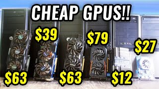"February's 2021 USED PC Parts Hunt - Under 4GB GPU ""Stormy"" Deals...!"