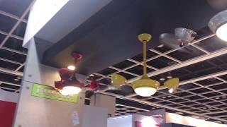 видео вентилятор со светильником