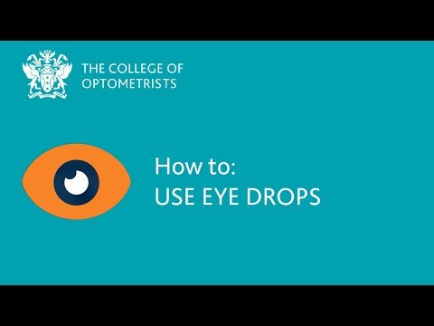How to: Use eye drops