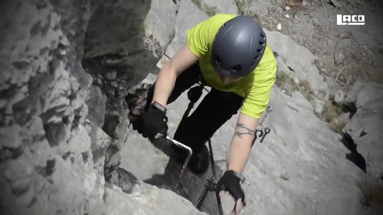 Klettersteigset Lacd : Lacd klettersteigset sicherheitsüberprüfung youtube