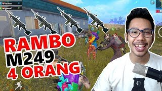 SQUAD RAMBO M249 - PUBG MOBILE INDONESIA