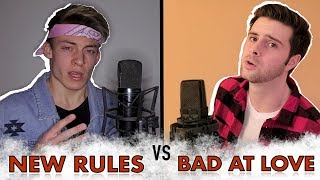 New Rules Bad At Love Mashup - (Cover by Tyler Sarfert ft. Brad Ryan)