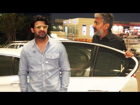 Baahubali Prabhas And S.S. Rajamouli Spotted At Mumbai Airport