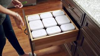 KraftMaid® Deep Drawer Organizer with OXO Canister Storage