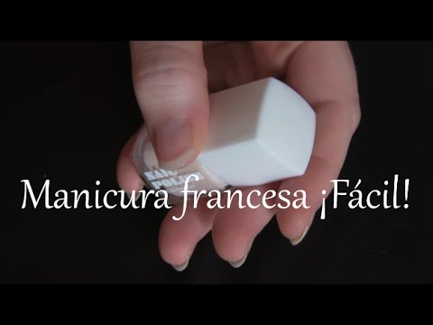 manicura francesa facil youtube