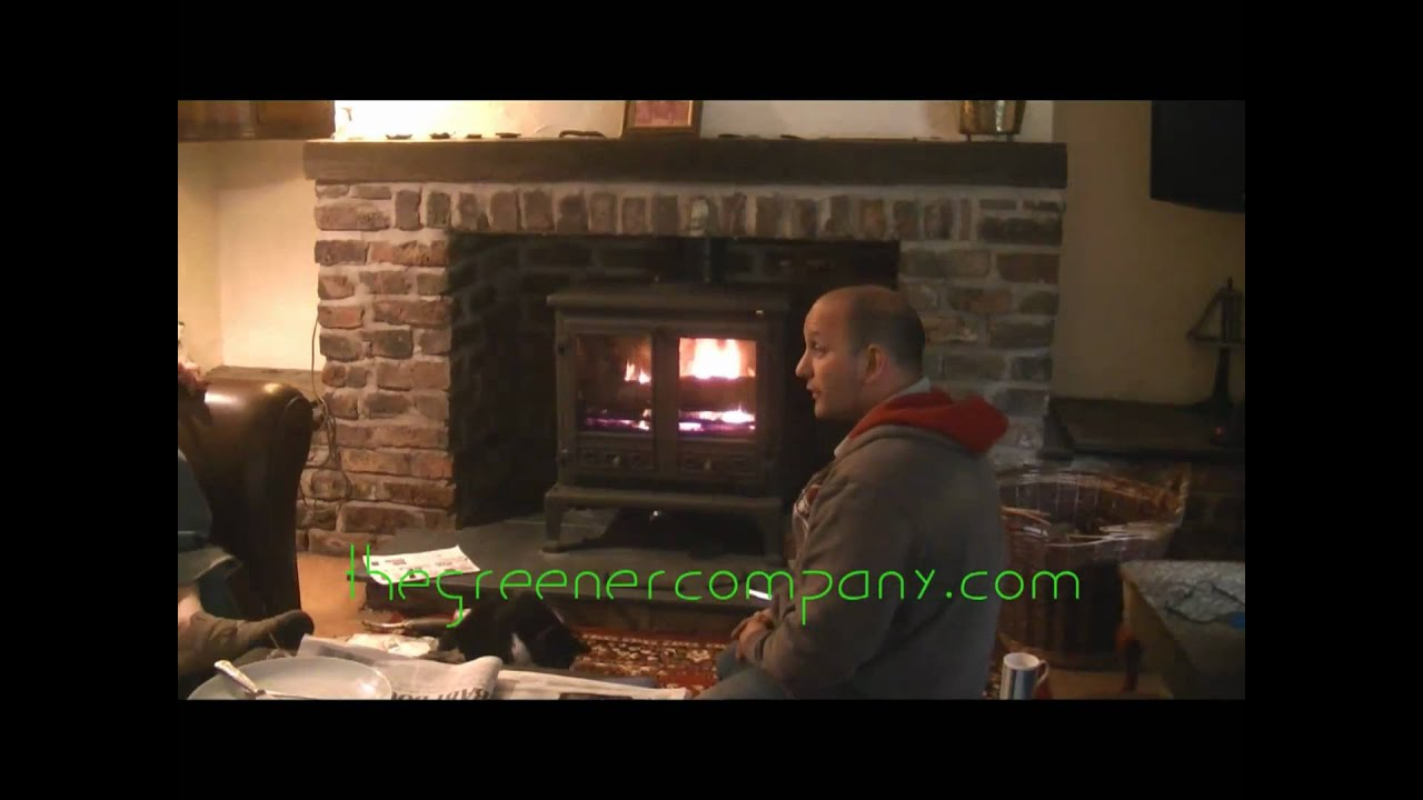 Wood Burning Boiler Stove Fireplace Installation Youtube