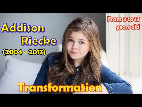 Addison Riecke transformation from 3 to 13 years old