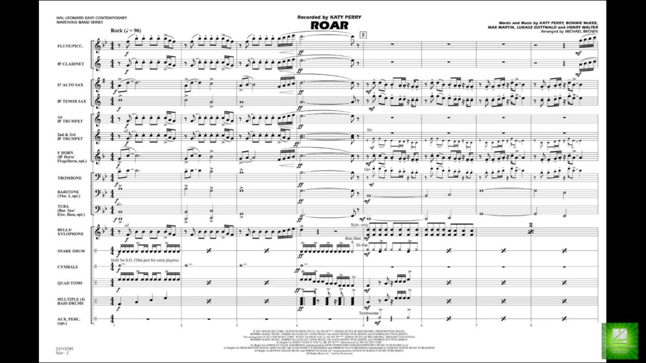 Roar arranged by Michael Brown