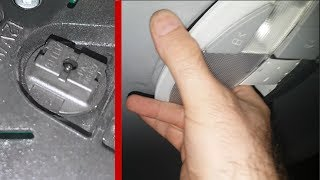 Removing rear light on Mercedes W211 / How to remove the Rear Ceiling Light on W211/W219