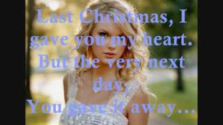 Last Christmas by Taylor Swift Lyrics