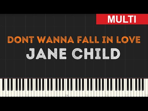 Jane Child - Dont Wanna Fall in Love (Instrumental Tutorial) [Synthesia]