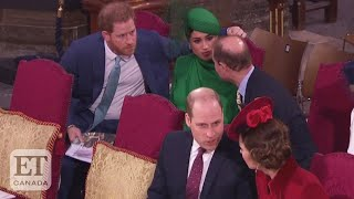 """Since some are calling prince william and kate middleton's greeting of harry meghan markle at the commonwealth day ceremony """"awkward"""" """"ice-col..."""