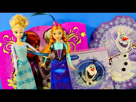 100+ Disney Frozen Collection Activity Tote Bag Barbie Doll Elsa Anna Decorating Olaf
