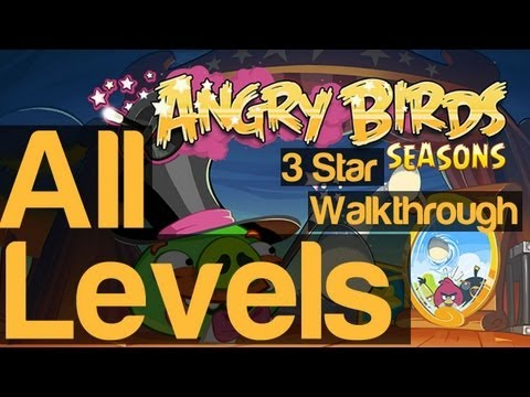 Angry Birds Seasons Abra-Ca-Bacon All Levels 1-1 To 2-15 With Golden Egg & Bonus Levels