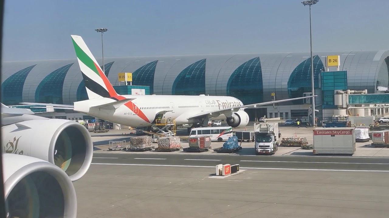 Emirates Airbus A380 in Dubai Airport