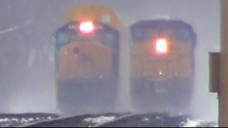 CSX Light Power Meets CSX Train in The Snow