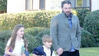 Ben Affleck Is All Smiles With His Kids In Brentwood - EXCLUSIVE