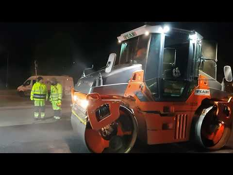 Asphalt road construction in Stockholm-Sweden with expensive ECO asphalt!