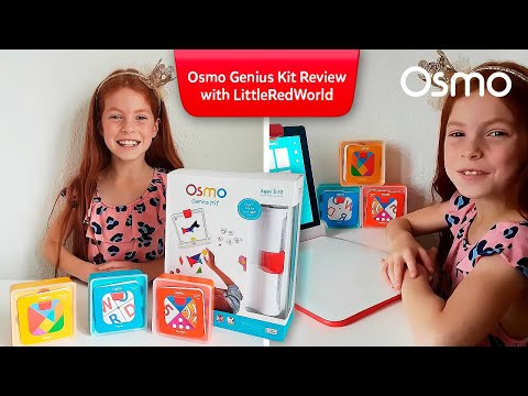 OSMO GENIUS KIT REVIEW! TANGRAM, WORDS, NUMBERS, MASTERPIECE & NEWTON Little Red World