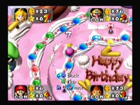 Happy Birthday SpiderStaryu Mario PartyPeachs Birthday Cake