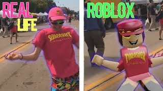 DANCES ROBLOX VS REAL LIFE !!!