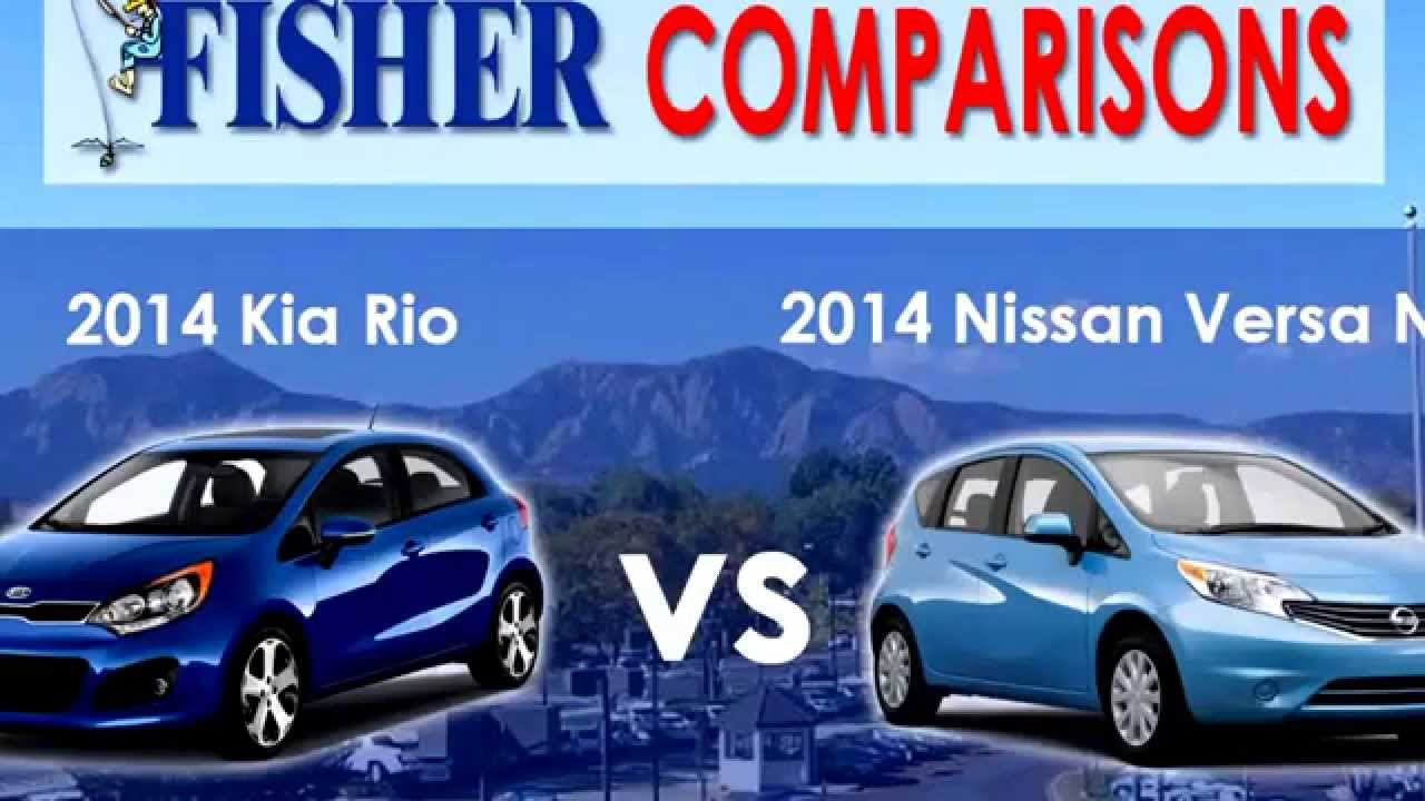 2014 kia rio vs nissan versa note youtube. Black Bedroom Furniture Sets. Home Design Ideas