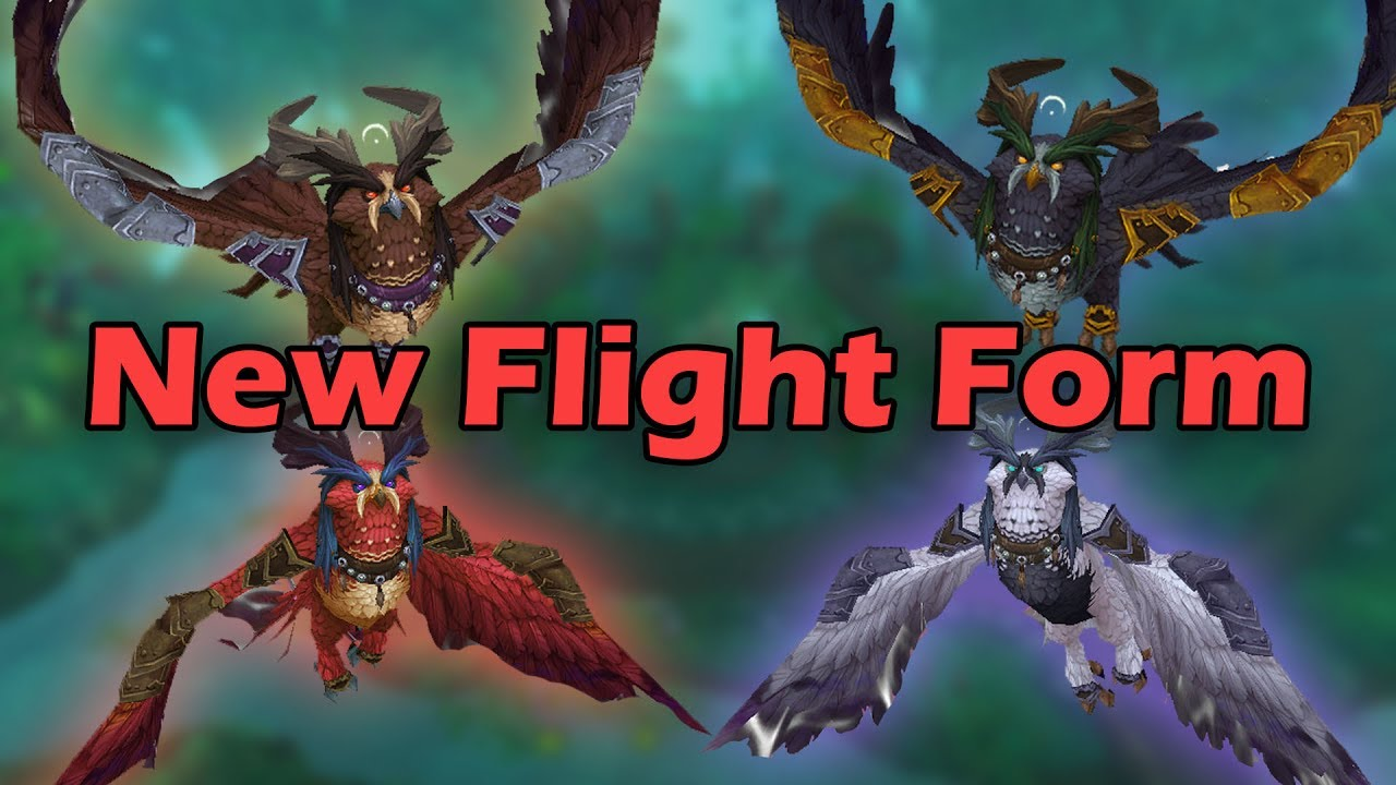 How to Get the New Druid Flight Form (New Class Mount) - Lunarwing ...