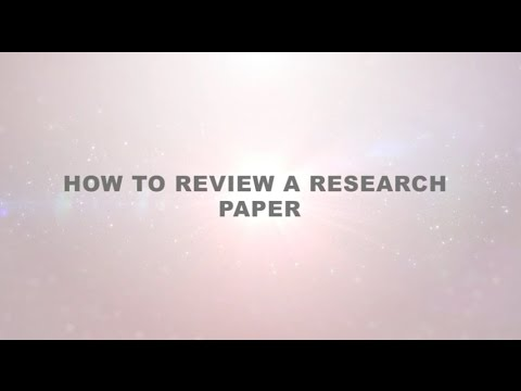 How to Review a Research Paper