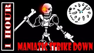 Undertale AU - Disbelief Hard Mode. Maniatic Strike Down 1 hour | One Hour of
