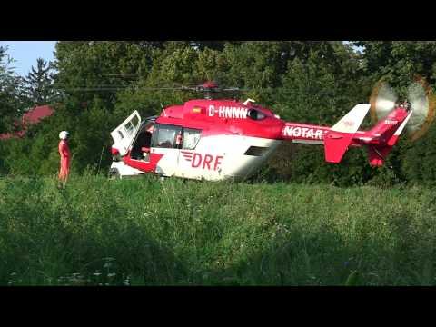 Rettungshubschrauber landete bei Friedhof Bruchsal
