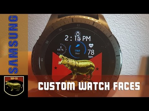 Samsung Gear S3 Frontier - Create Your Own Custom Watch Face