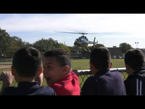 DEA Helicopter Visits RISD Academy for Red Ribbon Week