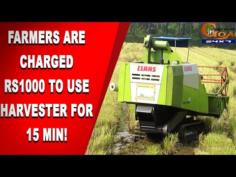 Shocking! Farmers Are Being Charged ₹1000 For 15 Minutes To Use Harvesting Machine!