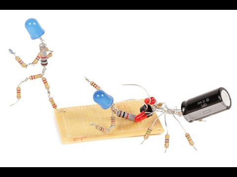 How to make electronics components creature?