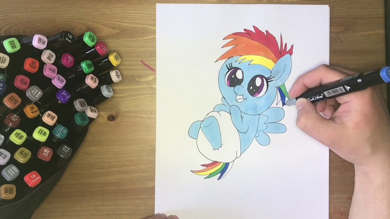#ARTCLUB How to draw Baby Rainbow Dash