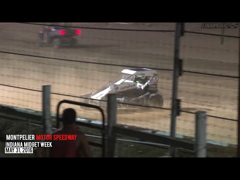Highlights: USAC National Midgets at Montpelier Motor Speedway - May 31, 2016