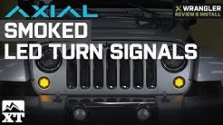 Jeep Wrangler Axial Smoked LED Amber Turn Signals (2007-2018 JK) Review & Install