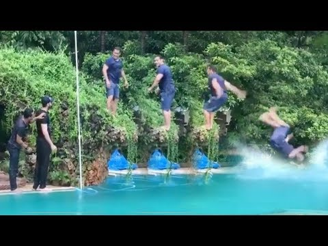 See Salman Khan's AMAZING Back Flip Diving STUNT Into Swimming Pool @Panvel Farmhouse is simply WOW Mp3