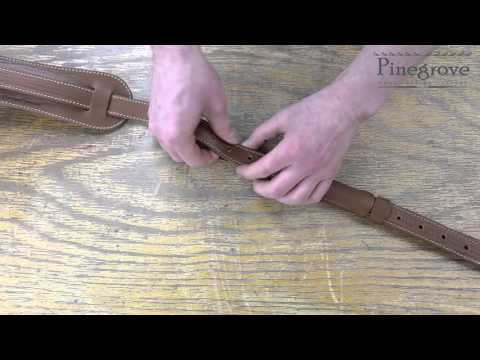 "Pinegrove 1"" Vintage-Style Leather Guitar Strap"