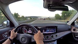 Mercedes E220d W213 Vmax Autobahn OnBoard TestDrive POV