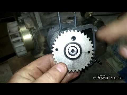 Как выставить цепь грм в скутере 150СС (157qmj)