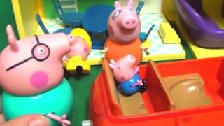 Мультфильм игрушками Свинка Пеппа Свинка Pig Гроза