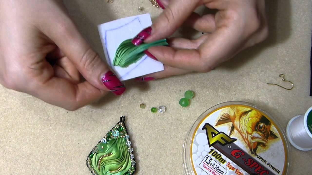Diy orecchino o ciondolo con seta shibori ribbon tutorial - Tutorial fai da te ...