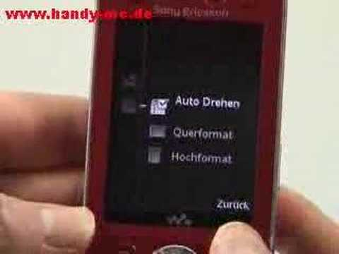 Sony-Ericsson W910i Bedienung