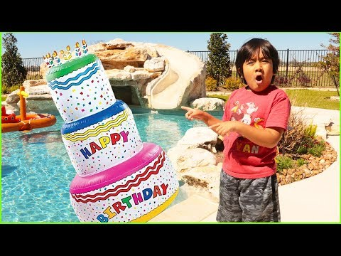 Giant Birthday Cakes Toys With Ryan Pretend Play Surprise Party!!!