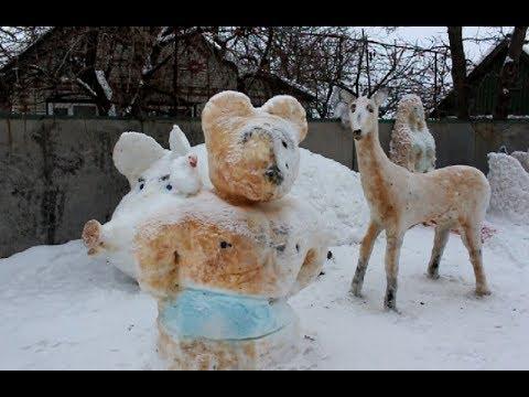 mistotvpoltava: Гадяч – снігові скульптури
