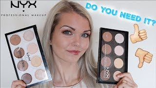 nYX Highlight and Contour Cream Pro Palette Review, Swatches, and Tutorial  Day 155