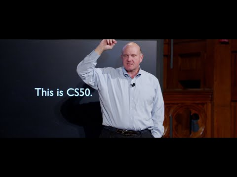 CS50 Lecture by Steve Ballmer