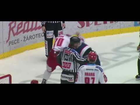 Bitka Jan Hudeček (HC Vítkovice) vs. Bohumil Jank (Oceláři Třinec)