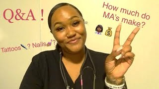 (PART 1👩🏾‍⚕️ !) Medical Assistant Q&A !! #MedLifeJourney
